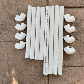 PVC pieces for drainage spacer