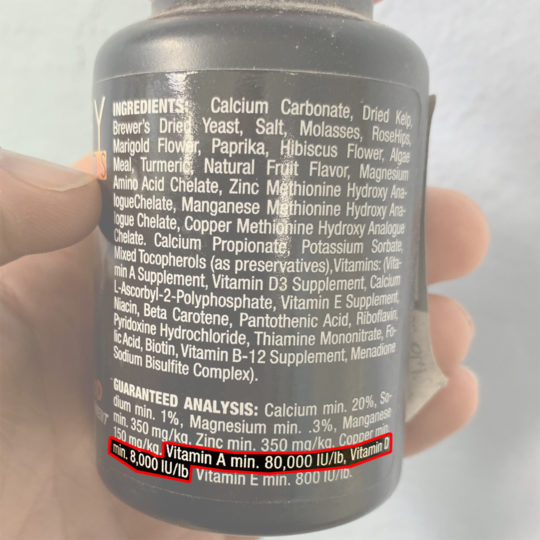 Calcium Plus LoD Ingredients List