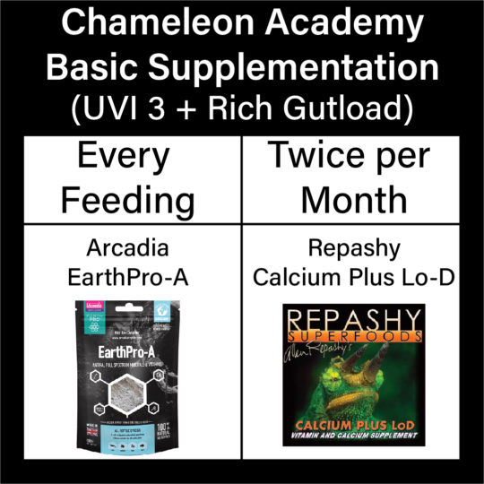 Chameleon Supplementation reference