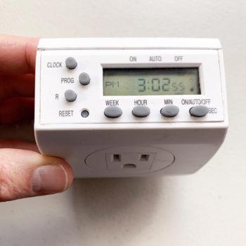 seconds timer for chameleon misting system