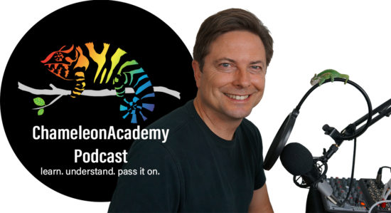 Chameleon Academy Podcast host slide