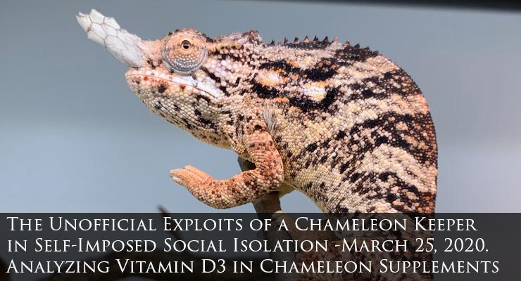 Vitamin D3 for chameleons